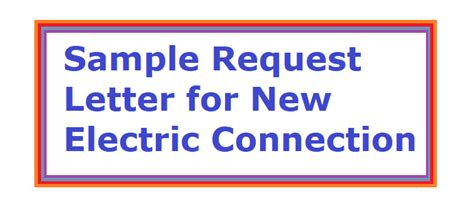 How to write an application for new electricity connection
